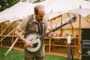 Heston Frankley on the banjo, Wedding, Old Rectory, Pyworthy, Devon
