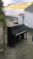 The Leigh Delamere pop-up upright piano, Helford, Cornwall